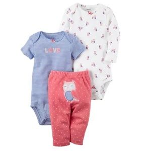 Carter's - 3 Piece Owl Set
